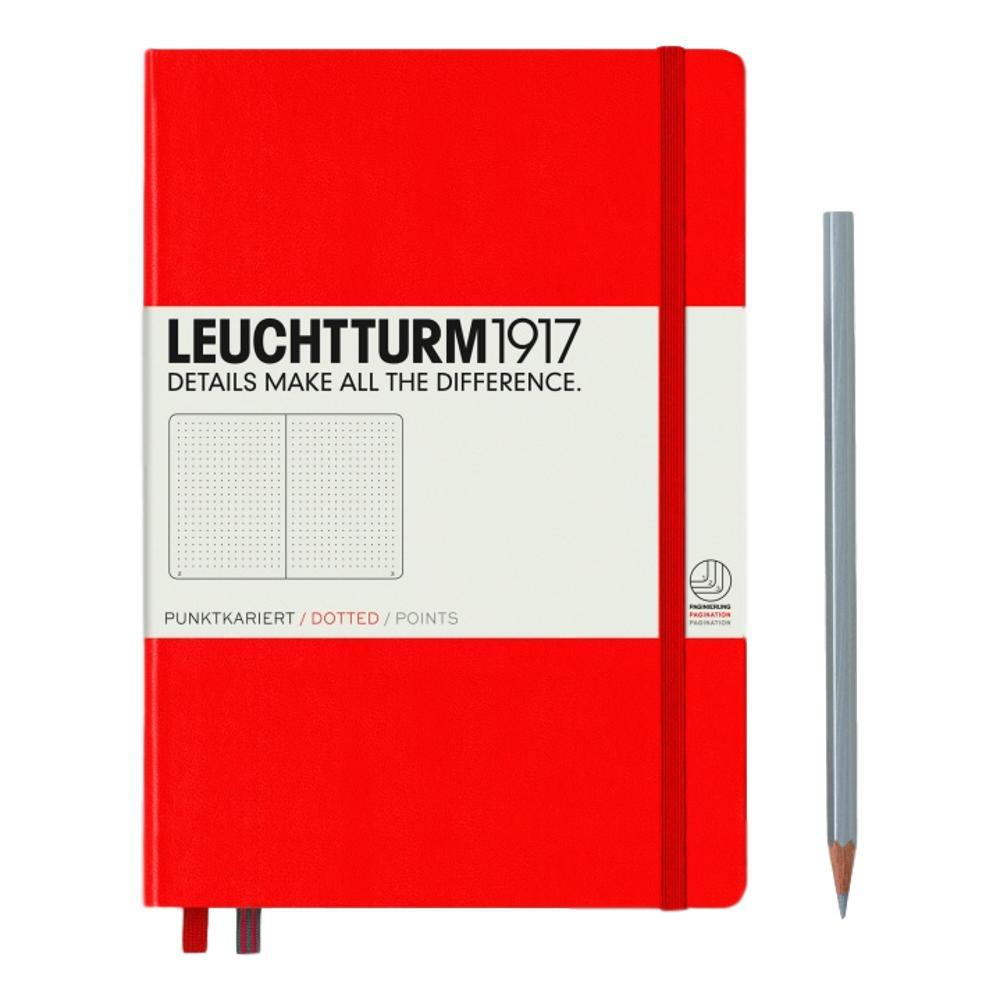 Leuchtturm1917 Hardcover Medium Dotted Notebook RED