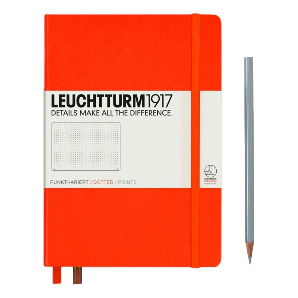 Leuchtturm1917 Hardcover Medium Dotted Notebook ORANGE