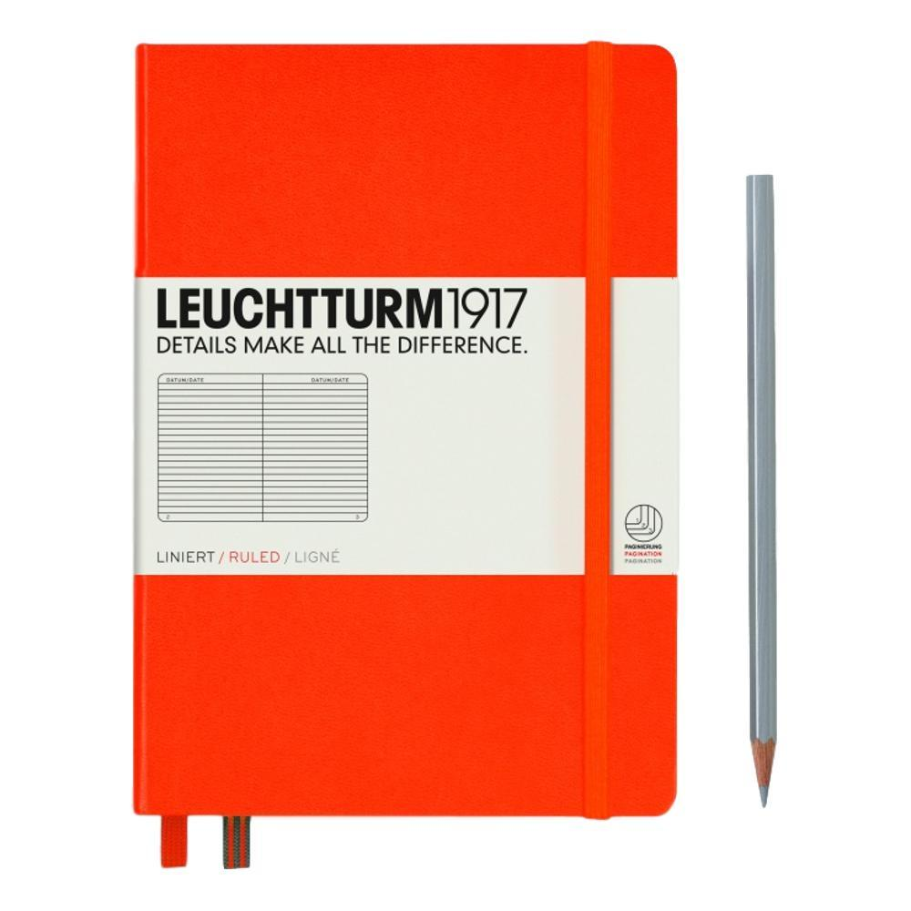 Leuchtturm1917 Hardcover Medium Ruled Notebook ORANGE
