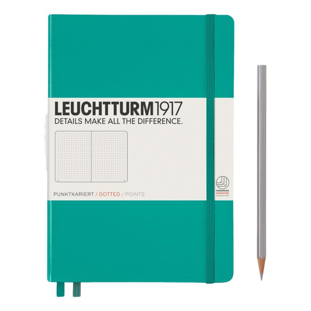 Leuchtturm1917 Hardcover Medium Dotted Notebook EMERALD