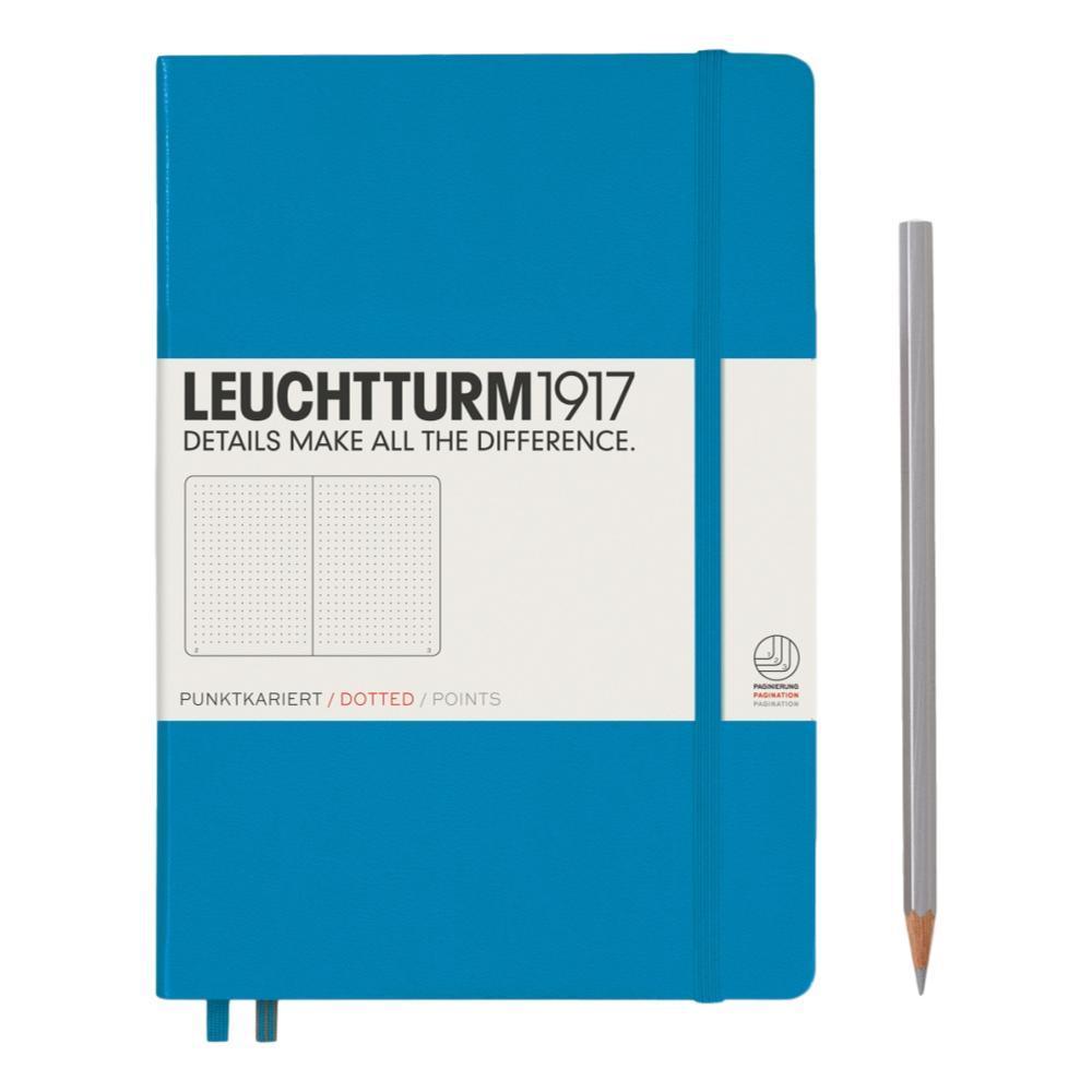 Leuchtturm1917 Hardcover Medium Dotted Notebook AZURE