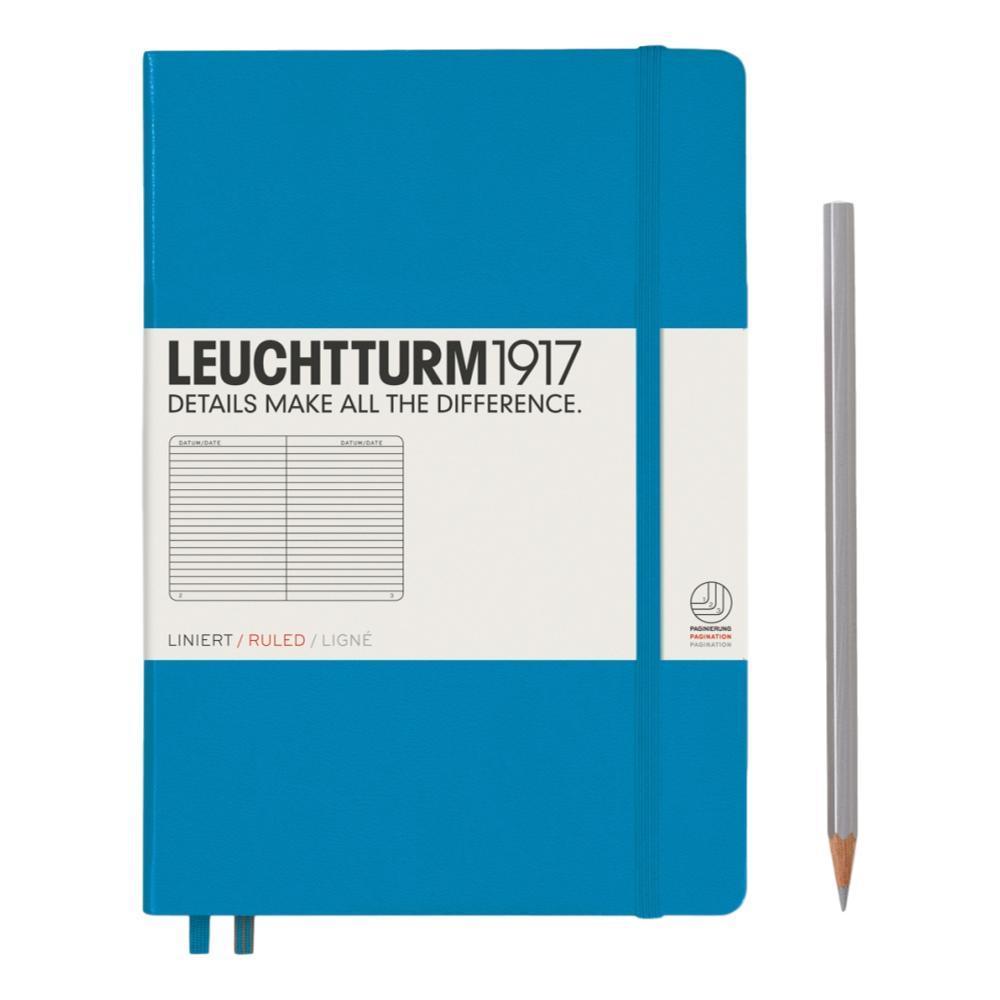 Leuchtturm1917 Hardcover Medium Ruled Notebook AZURE