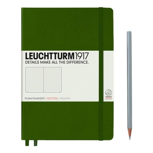 Leuchtturm1917 Hardcover Medium Dotted Notebook Army