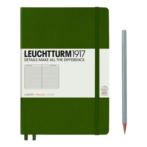 Leuchtturm1917 Hardcover Medium Ruled Notebook Army