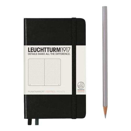 The Leuchtturm1917 Hardcover Dotted Pocket Notebook Black