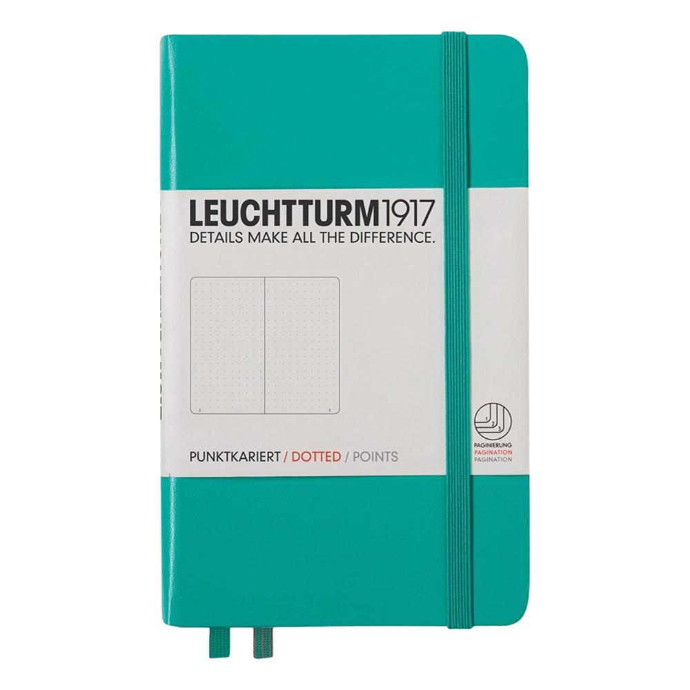 Leuchtturm1917 Hardcover Dotted Pocket Notebook EMERALD