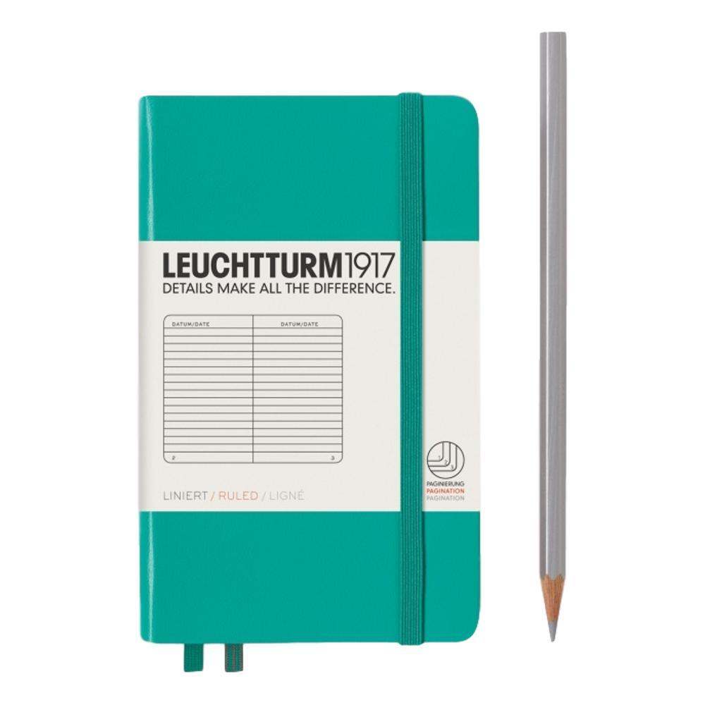 Leuchtturm1917 Hardcover Ruled Pocket Notebook EMERALD