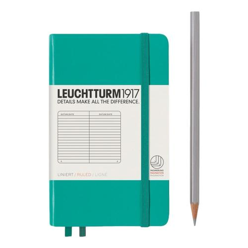 Leuchtturm1917 Hardcover Ruled Pocket Notebook Emerald