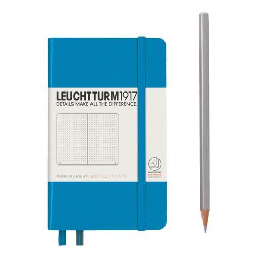 Leuchtturm1917 Hardcover Dotted Pocket Notebook Azure