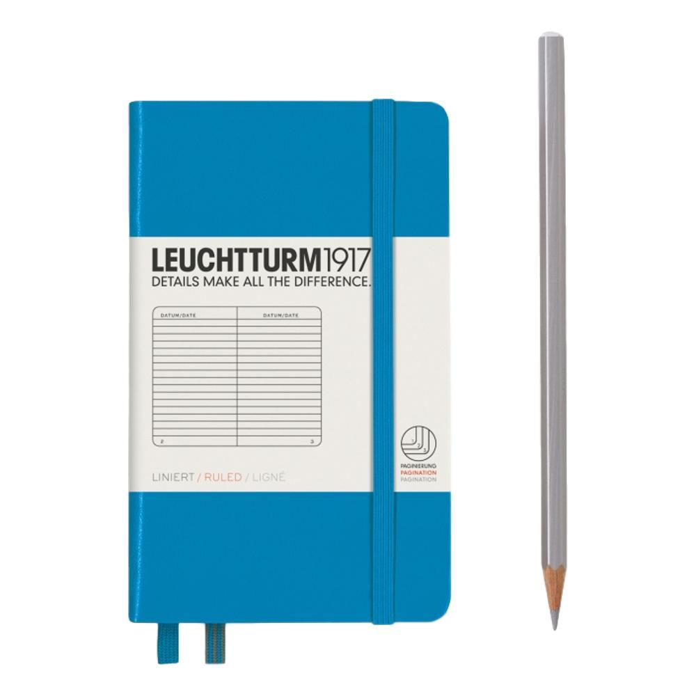 Leuchtturm1917 Hardcover Ruled Pocket Notebook AZURE