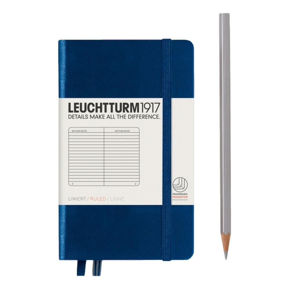Leuchtturm1917 Hardcover Ruled Pocket Notebook NAVY