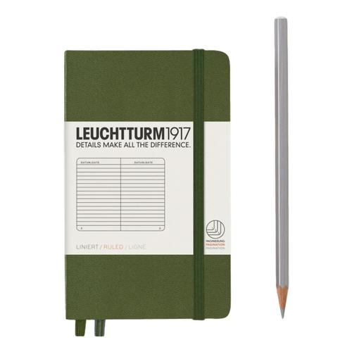 Leuchtturm1917 Hardcover Ruled Pocket Notebook Army
