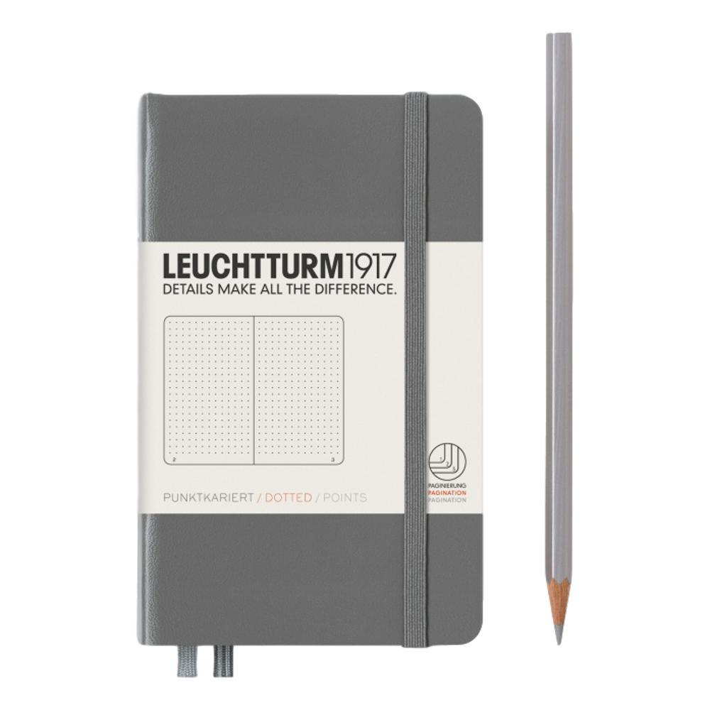Leuchtturm1917 Hardcover Dotted Pocket Notebook ANTHRACITE