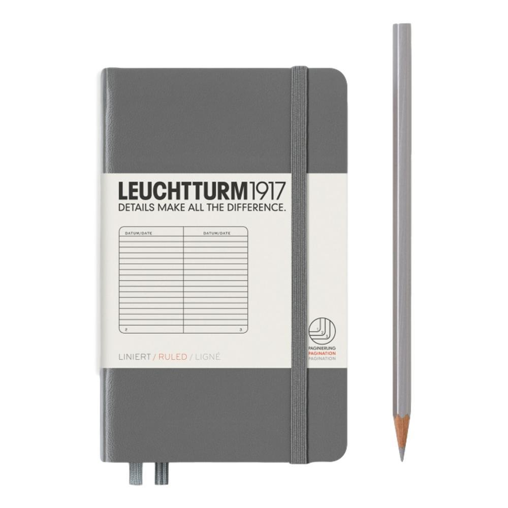 Leuchtturm1917 Hardcover Ruled Pocket Notebook ANTHRACITE