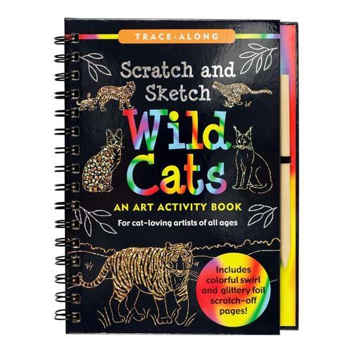 Peter Pauper Press Scratch & Sketch Wild Cats .