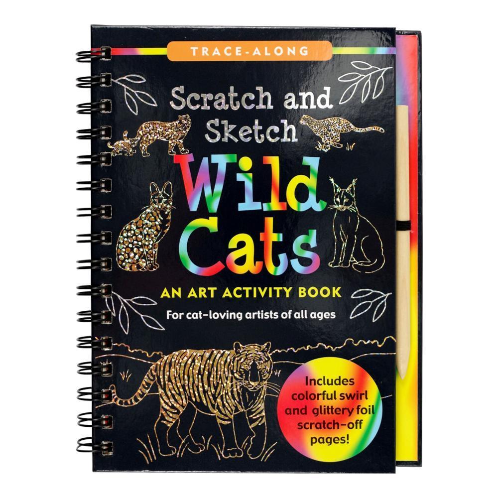Peter Pauper Press Scratch & Sketch Wild Cats