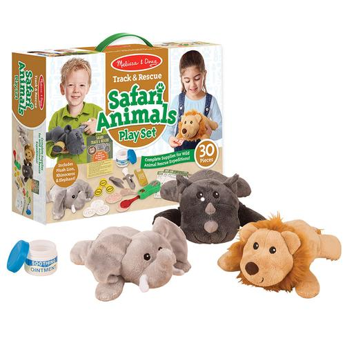 Melissa & Doug Track & Rescue Safari Animals Play Set Safari