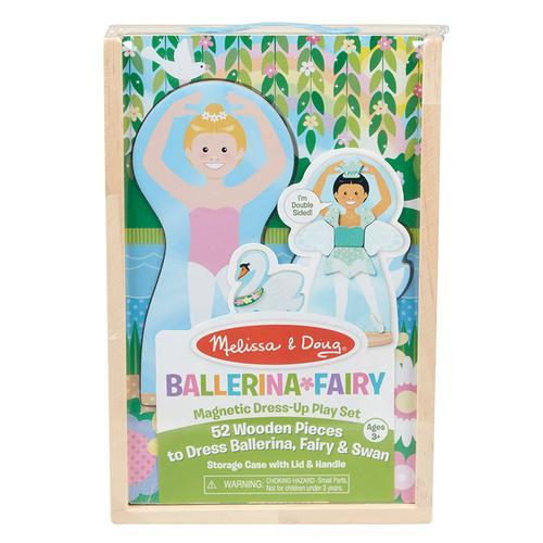 Melissa & Doug Ballerina/Fairy Magnetic Dress-Up Play Set