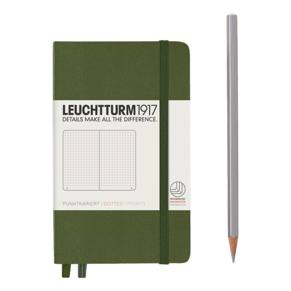 Leuchtturm1917 Hardcover Dotted Pocket Notebook ARMY