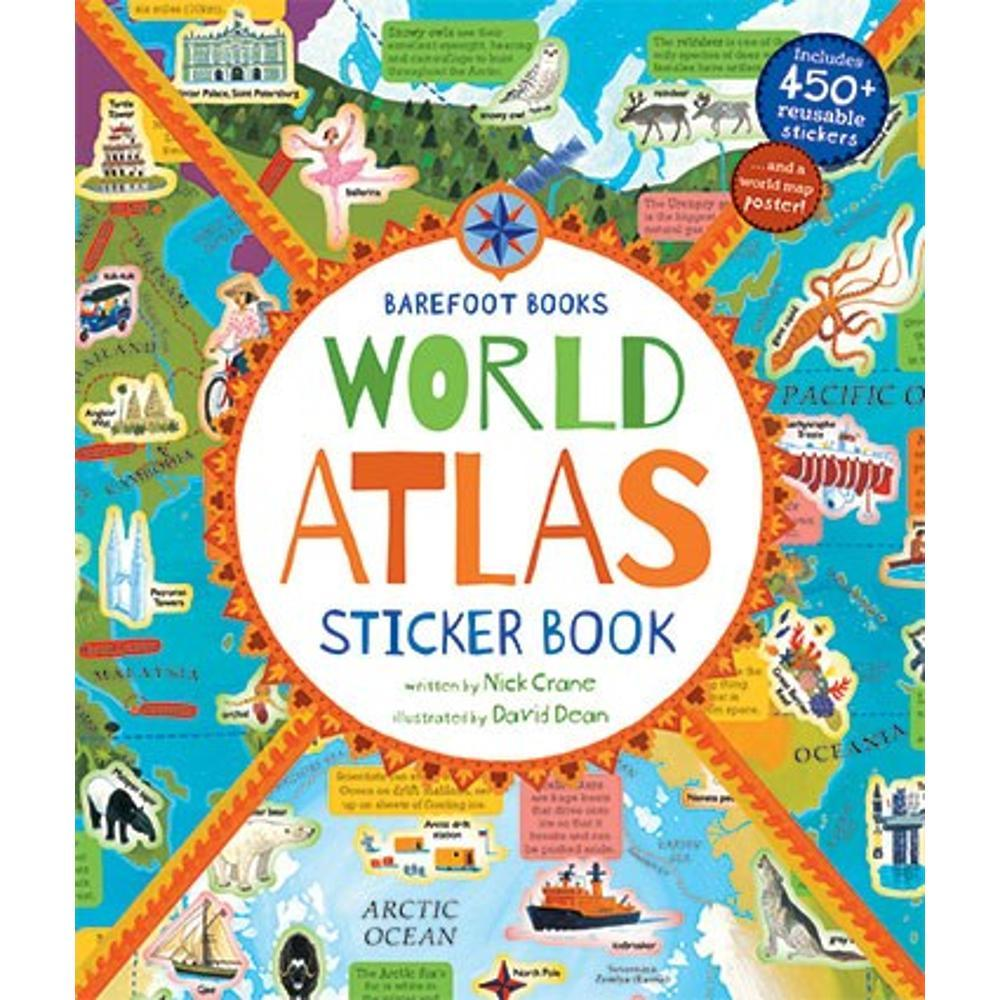 Barefoot Books World Atlas Sticker Book By Nick Crane