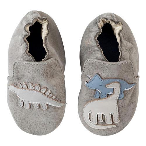 Robeez Grey Ramsey Soft Soles Shoes Dinos