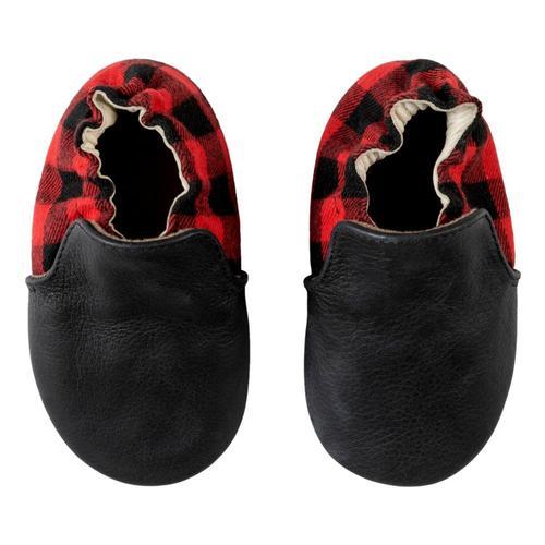 Robeez Black Hunter Soft Soles Shoes Buffplaid