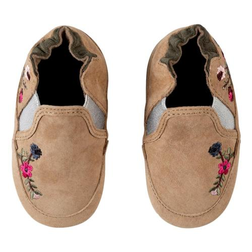 Robeez Camel Aubrey Soft Soles Shoes Brownflorl