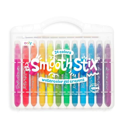 Ooly Smooth Stix Watercolor Gel Crayons - Set of 24