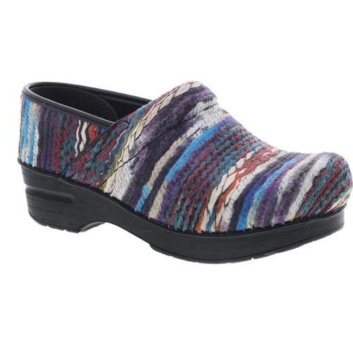 Dansko Women's Coated Yarn Professional Blue Multi Clogs Bluemulti