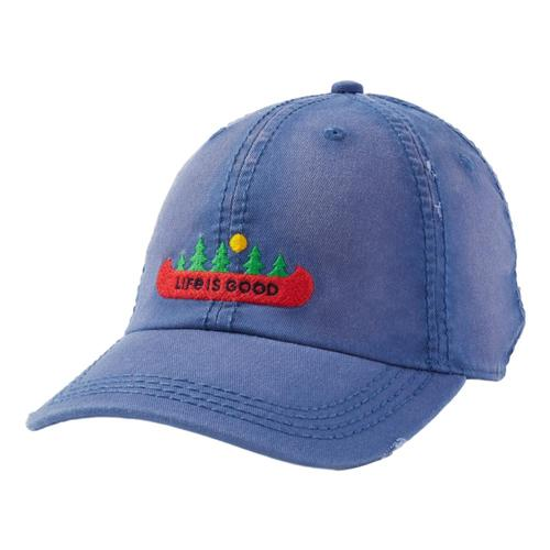 Life is Good Canoe Landscape Sunwashed Chill Cap Vintagblue