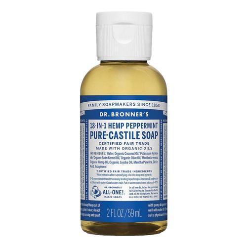 Dr. Bronner's Pure-Castile Liquid Soap Peppermint 2oz Peppermint