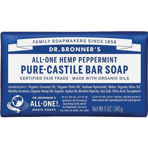 Dr. Bronner's Pure-Castile Bar Soap Peppermint 5oz Peppermint