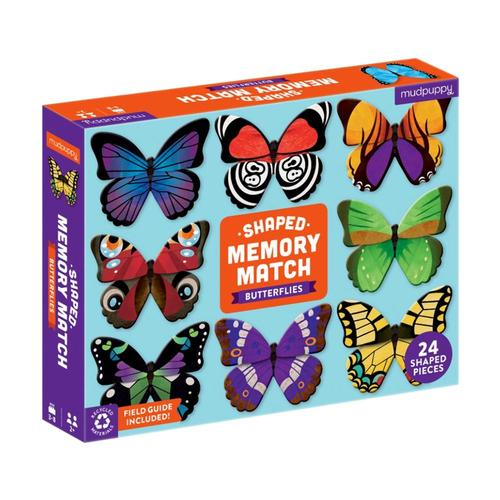 Mudpuppy Butterflies Shaped Memory Match