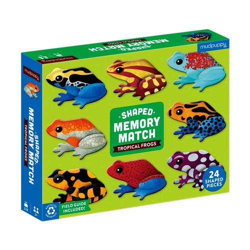 Mudpuppy Tropical Frogs Shaped Memory Match