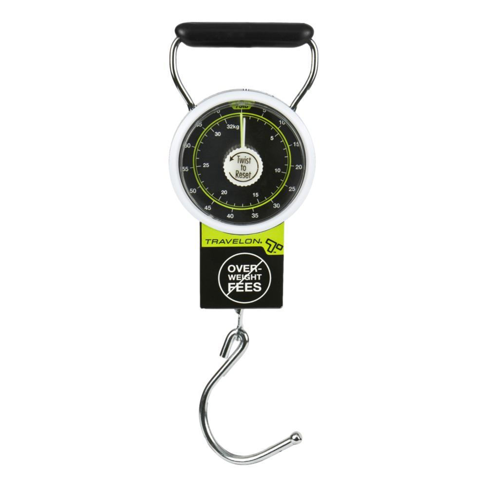 Travelon Stop and Lock Luggage Scale with Tape Measure BLACK