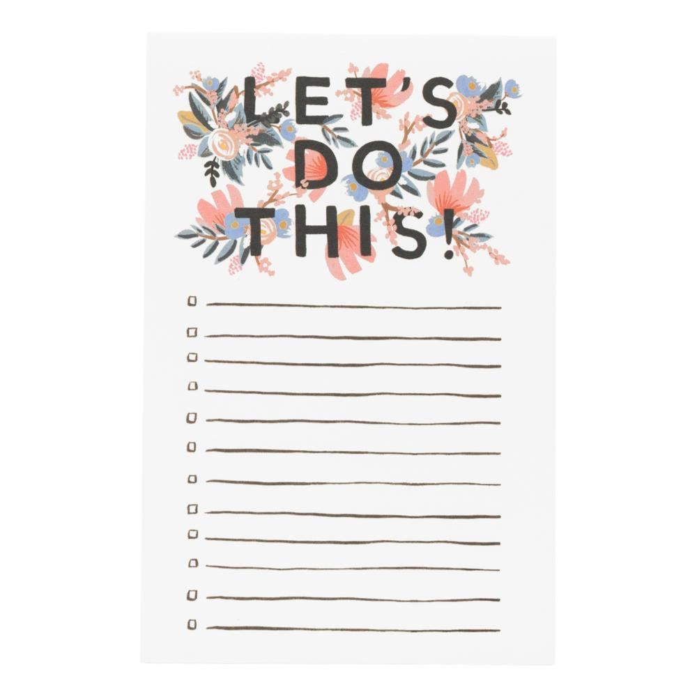 Rifle Paper Co.Let's Do This Checklist Notepad