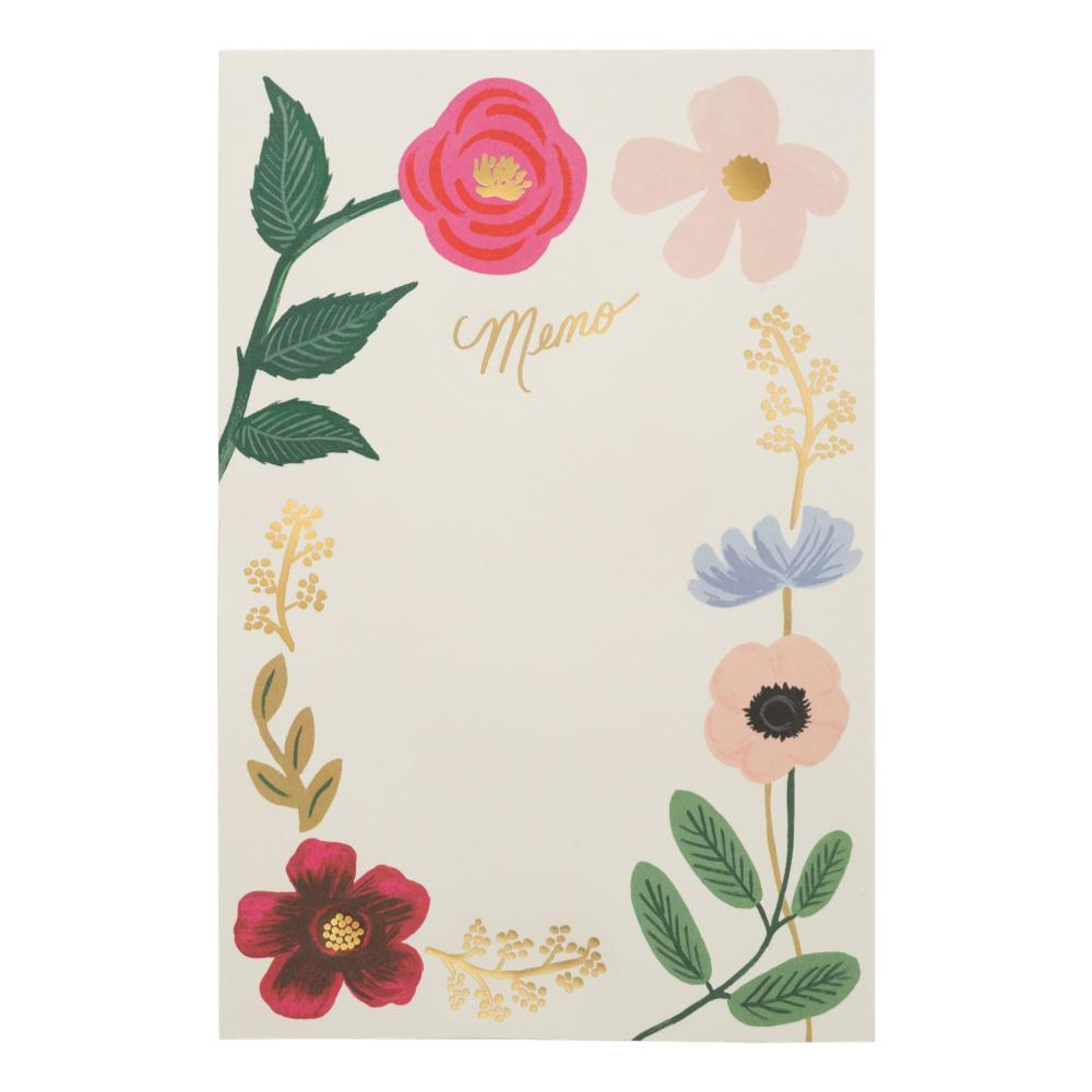 Rifle Paper Co.Wildflowers Memo Notepad - Large