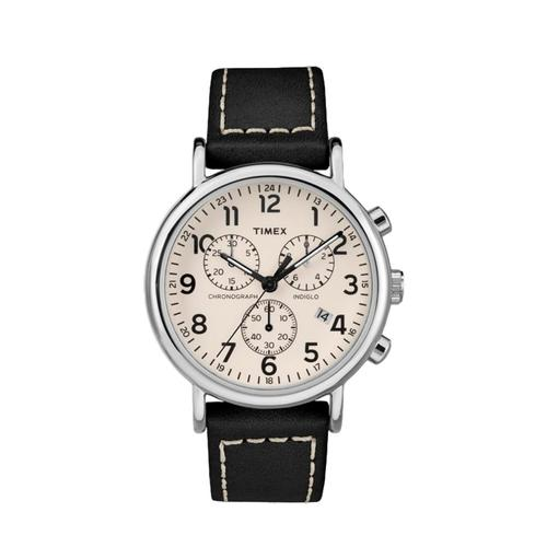 Timex Weekender 40mm Chronograph Watch Leather