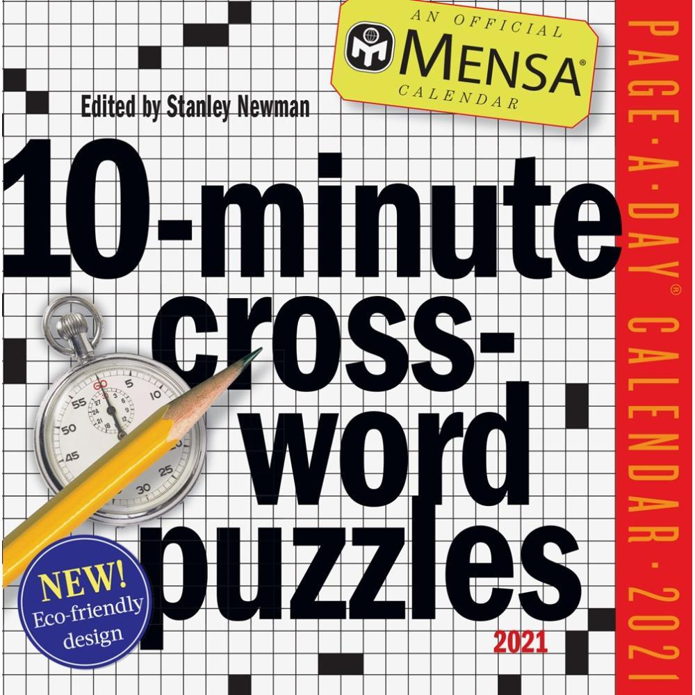Mensa 10-Minute Crossword Puzzles Page-A-Day Calendar 2021 2021