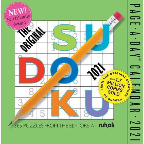 Original Sudoku Page-A-Day Calendar 2021 2021