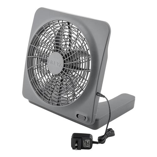 Treva 10in Basic Fan with AC Adapter Dk.Grey