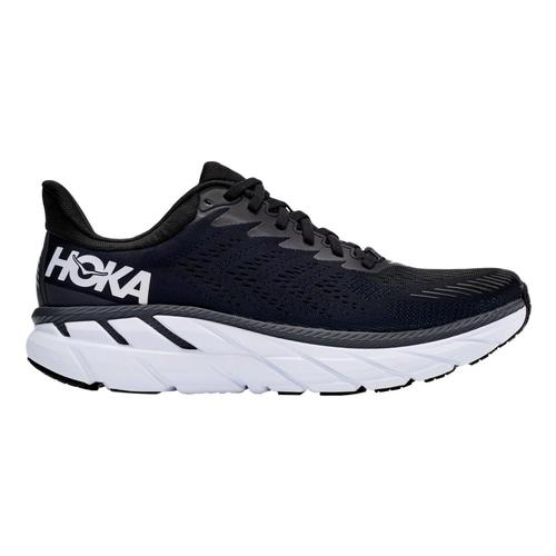 HOKA ONE ONE Men's Clifton 7 Running Shoes Blk.Wht_bwht