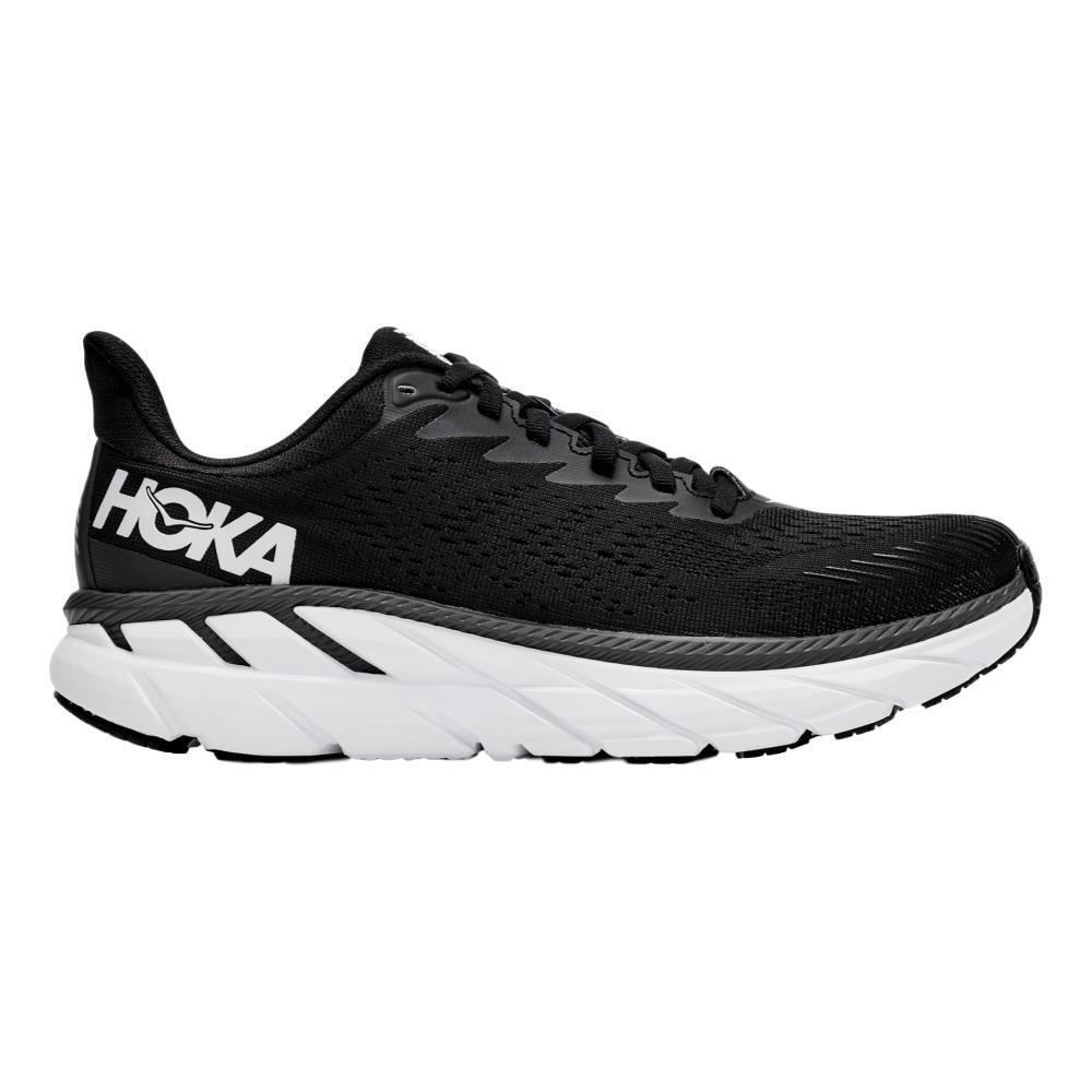 HOKA ONE ONE Women's Clifton 7 Running Shoes BLK.WHT_BWHT