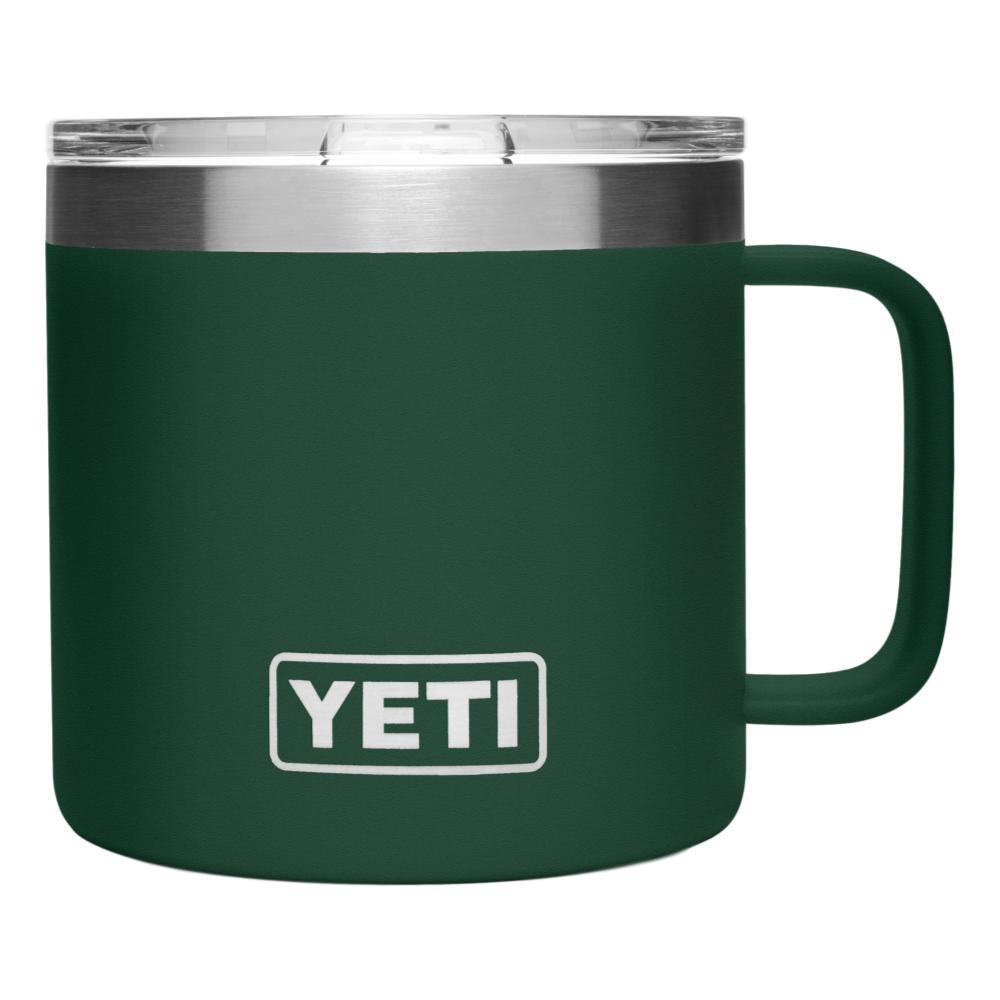 YETI Rambler 14oz Mug with Standard Lid NRTHWDSGREEN