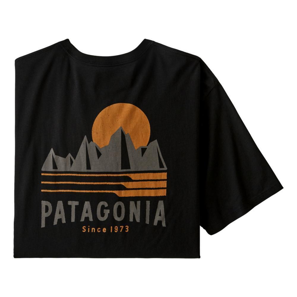 Patagonia Men's Tube View Organic T-Shirt BLACK_BLK
