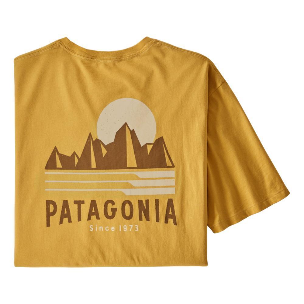 Patagonia Men's Tube View Organic T-Shirt YELLW_MTNY