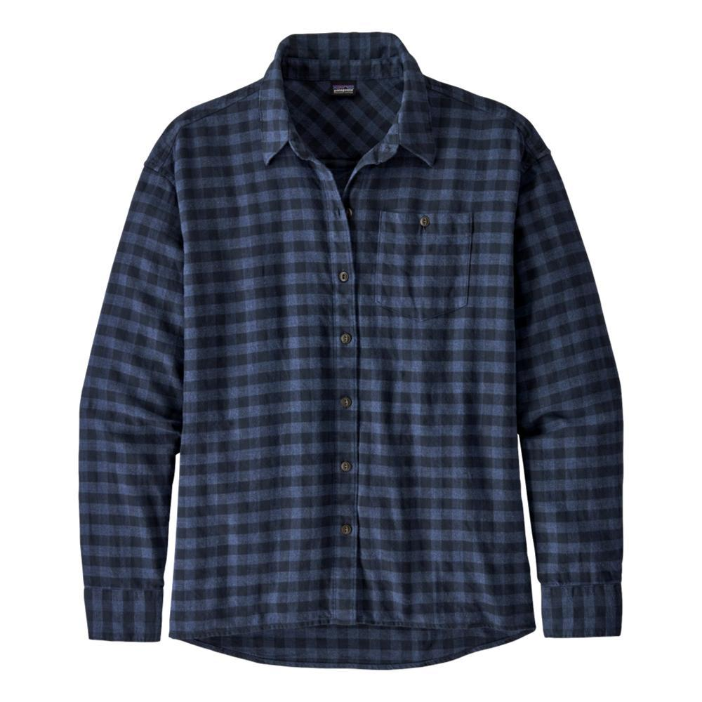 Patagonia Women's Driving Song Flannel Shirt BLUE_SDBL