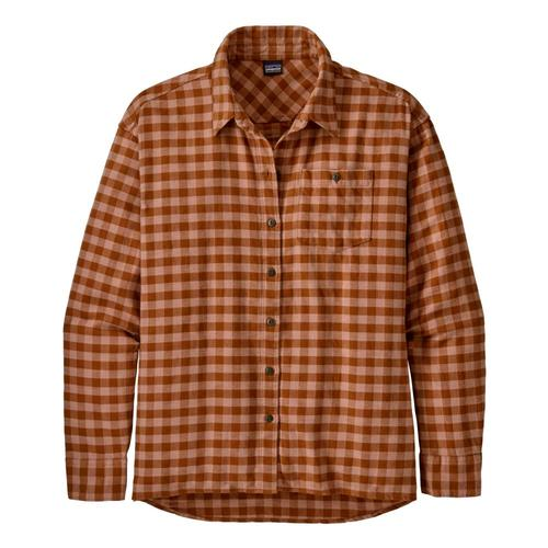 Patagonia Women's Driving Song Flannel Shirt Pink_sapk