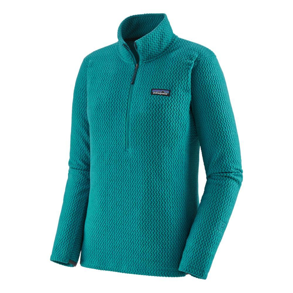 Patagonia Women's R1 Air Zip-Neck Fleece Pullover GREEN_BRLG