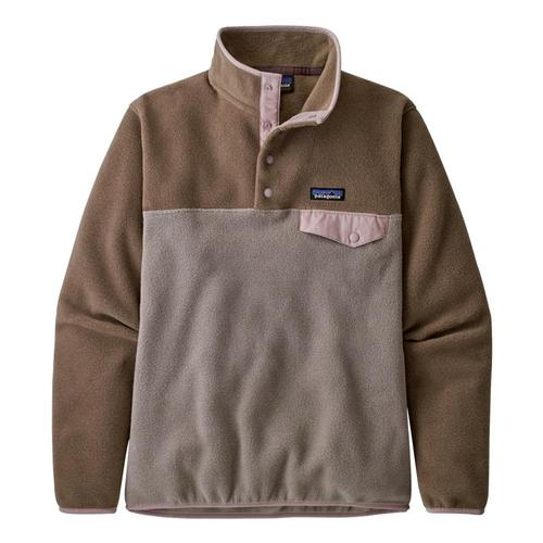 Patagonia Women's Lightweight Synchilla Snap-T Fleece Pullover Taupe_fryt